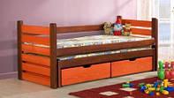 """Односпальная кровать """"Марко"""" из дерева (массив бука) с подъемным механизмом"""