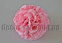 Шар из головок розовой розы в бутоне 17 см