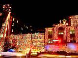 Новогоднее оформление, освещение и украшение фасада, офиса, ресторана, витрины к Новому году, фото 2