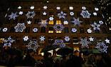 Новогоднее оформление, освещение и украшение фасада, офиса, ресторана, витрины к Новому году, фото 5