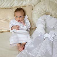 Крестильная рубашка Battessimo Классическая, цвет белый