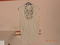 Блузка-боди кремовая в горошек с многослойным жабо Body Jet, фото 1