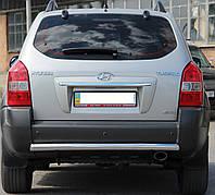 Защита заднего бампера на Hyundai Tucson (c 2010---)