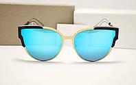 Женские солнцезащитные очки Dior wildly голубая линза, фото 1