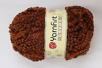 Davos пряжа букле для ручного вязания коричневый цвет