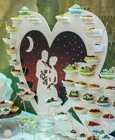 Сердце №1 подставка для капкейков, конфет, кексов заготовка для декора