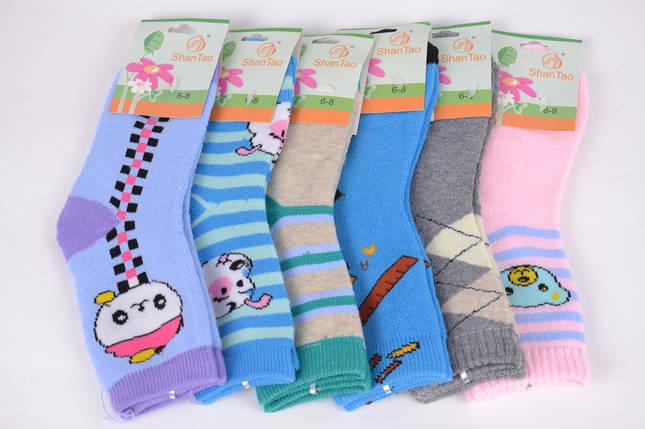 Носки детские махровые на девочку р.6-8 лет (CD001/4) | 12 пар, фото 2