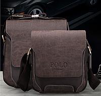 Мужская кожанная сумка Polo