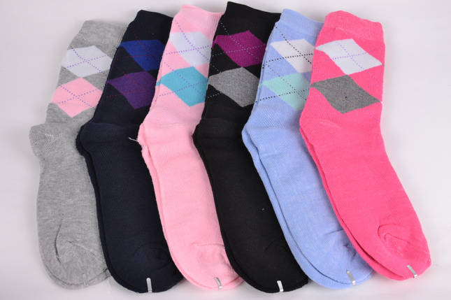 Женские носки Махра Ромбик (KB1502)   30 пар, фото 2