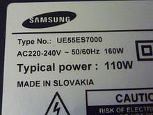 Платы от LED TV Samsung UE55ES7000SXXH
