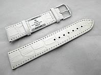 Кожаный ремешок Минута, цвет белый, застежка стальная
