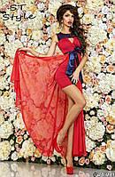Платье для выпускного бала со съемной юбкой 3 цвета