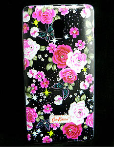 Чехол накладка для Lenovo Vibe P1 силиконовый Diamond Cath Kidston, Ночные розы