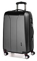 Роскошный 4-колесный пластиковый чемодан-гигант 110 л. MARCH New Carat 0081/27 черный