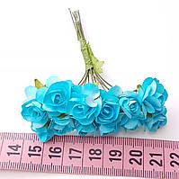 Розы бумажные 1.5 см (12 шт) №11