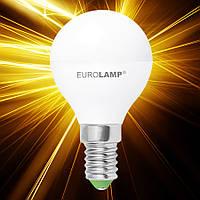 Светодиодная лампа EUROLAMP ЕКО G45 5W E14