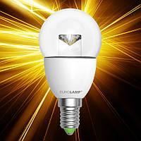 Светодиодная лампа EUROLAMP ЕКО G45 5W E14 прозрачная