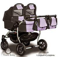 Детская коляска 2в1 для двойни Jumper Duo Trans baby