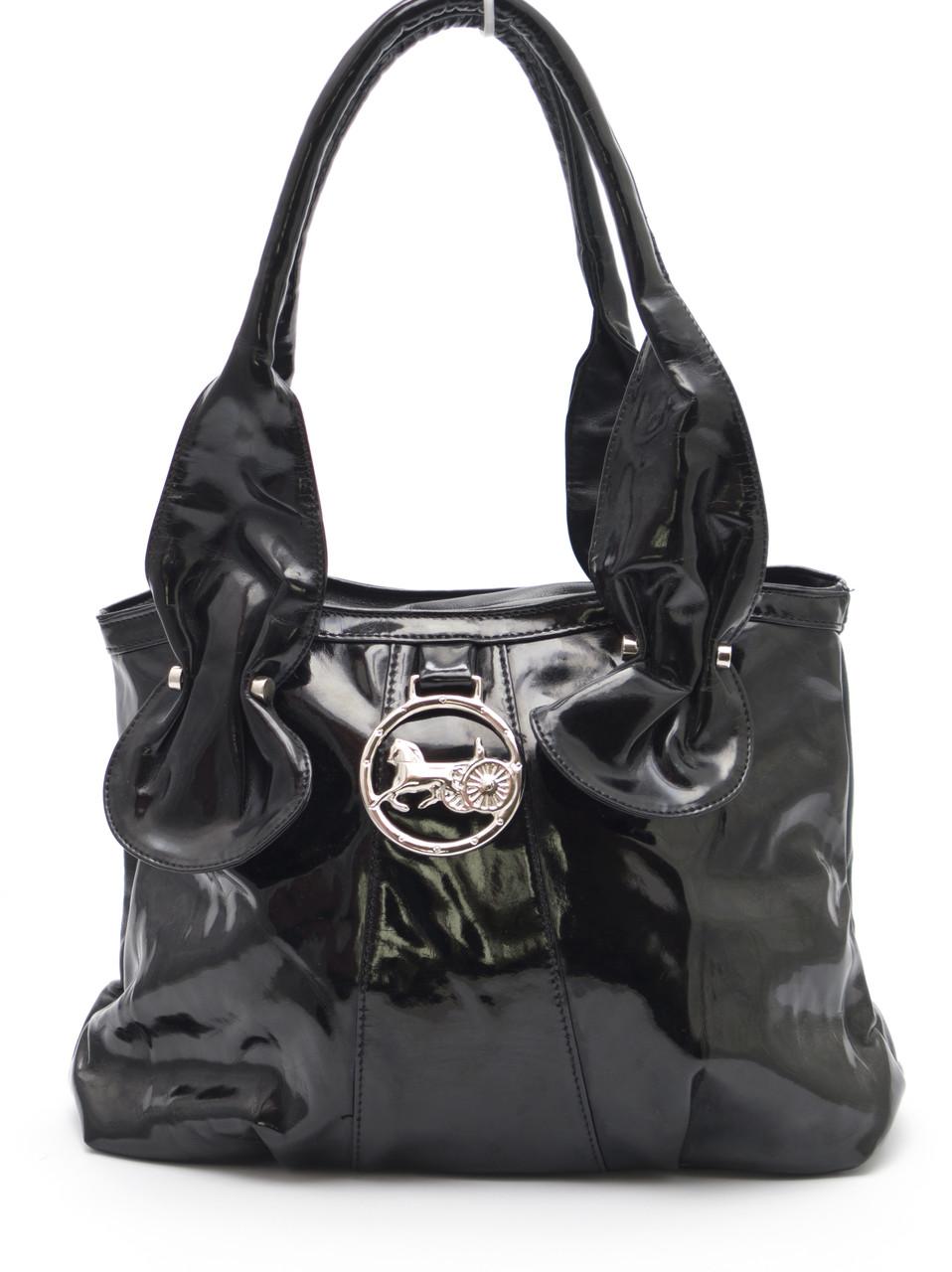 Черная лаковая женская сумка Tanta диз art. 5946