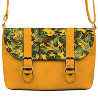 Желтая сумка Бриф с принтом Ананасовое дерево