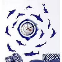 """Наклейка-часы Feron 4539 NL20, """"рыбы"""" 1*AА батарея( в комплект не входит)"""