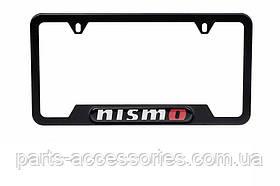 Nissan 370Z 2009-16 рамка Nismo черная под автомобильный номер США новая оригинал