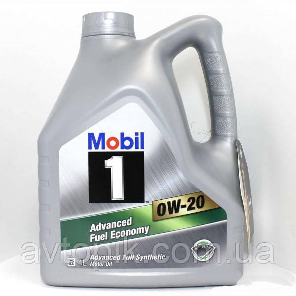 Моторное масло Mobil 0W-20 (4л.)