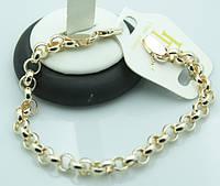 Красивые женские и мужские позолоченные браслеты FJ Fallon.