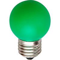 Светодиодная декоративная лампа Feron 4584 LB-37 G45 230V 1W E27 зелёная