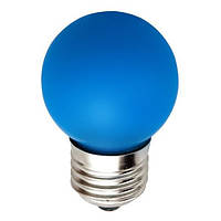 Светодиодная декоративная лампа Feron 4583 LB-37 G45 230V 1W E27 синяя