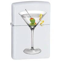 Зажигалка Zippo 28271 BS Martini белая 28271