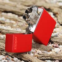 Бензиновая зажигалка Zippo 233 ZL RED MATTE (Красная матовая).