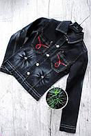 Красивый джинсовый пиджак, p.xs