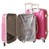 Пластиковый удобный чемодан на колёсиках двойка ручная кладь. SP510415, фото 1