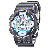 Бюджетные часы Casio G-Shock Ga-100 White-Black Dial