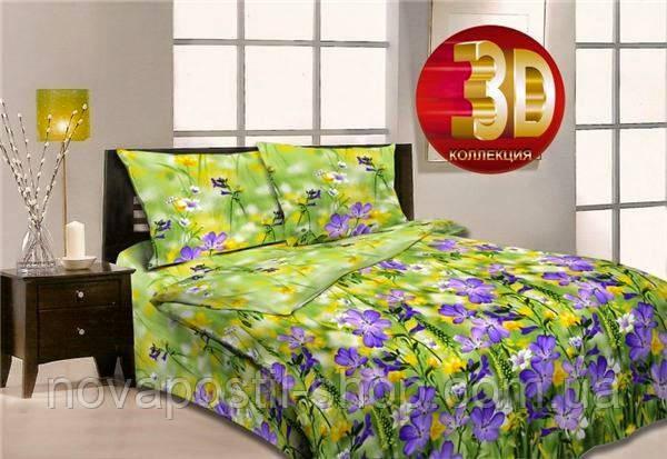 Бязь для постельного белья 220 см Луговые травы