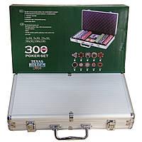 Набор подарочный покерный кейс на 300 фишек.