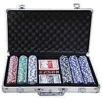 Набор подарочный покерный кейс на 300 фишек