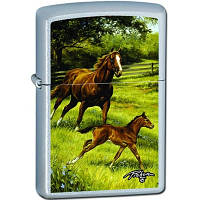 Бензиновая зажигалка Zippo 24782 Horse & Foal (Лошадь и жеребенок).