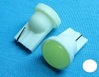 Светодиодная лампа W5W T10  COB белый цвет