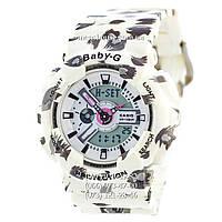 Бюджетные часы Casio Baby G  BA-110 White-Fl