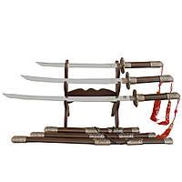 Декоративные мечи катаны в наборе из 3 единиц MS22933, фото 1