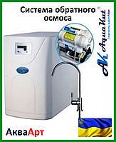 Осмос в корпусе 5 ст. с помпой с электронным контроллером, ТДС метром, защитой от утечки воды 50G RO-5  С-02