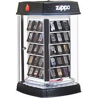 Крутящаяся оригинальная витрина Zippo на 60 зажигалок.