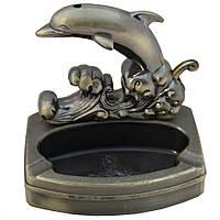 Пепельница с зажигалкой дельфин.
