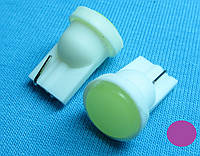 Светодиодная лампа W5W T10  COB фиолетовый цвет