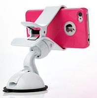 Универсальный авто держатель прищепка для телефонов на присоске, фото 1