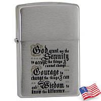 Зажигалка бензиновая  Zippo 200/114 BIBLE (Молитва).