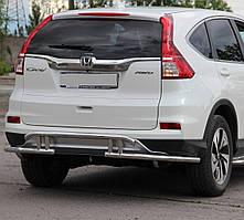Защита заднего бампера на Honda CRV (c 2012---)
