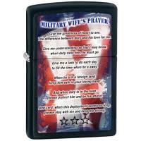 Зажигалка Zippo 28315 Military Wifes Prayer черная 28315